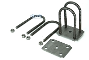 Trailer Leaf Spring U-Bolt Kit Round Oiled fits 3 inch Round Axles