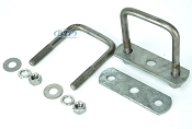 2 inch Diagonal Stainless Steel Boat Trailer Leaf Spring U-Bolt Kit