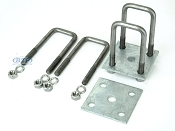 Leaf Spring Stainless Steel U-Bolt Kit Fits 2 x 2 Axles 5 1/4 in Long