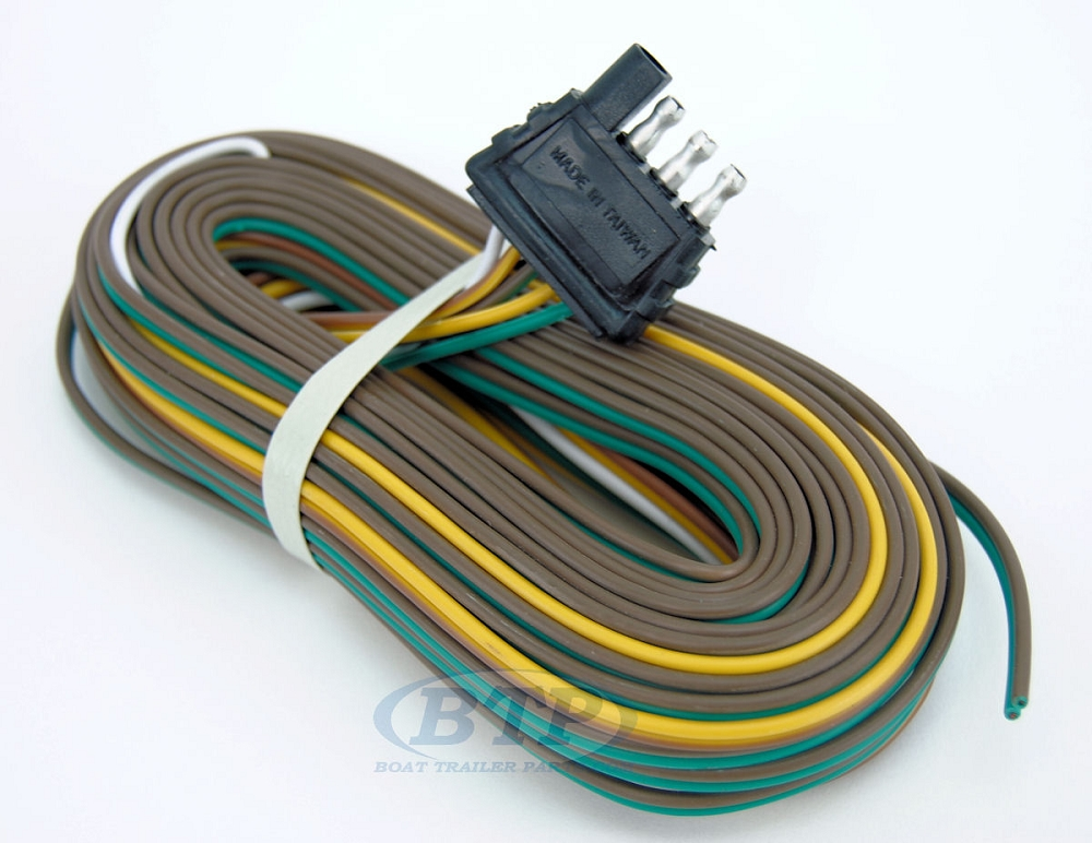 trailer wiring harness 4 flat 25ft to re