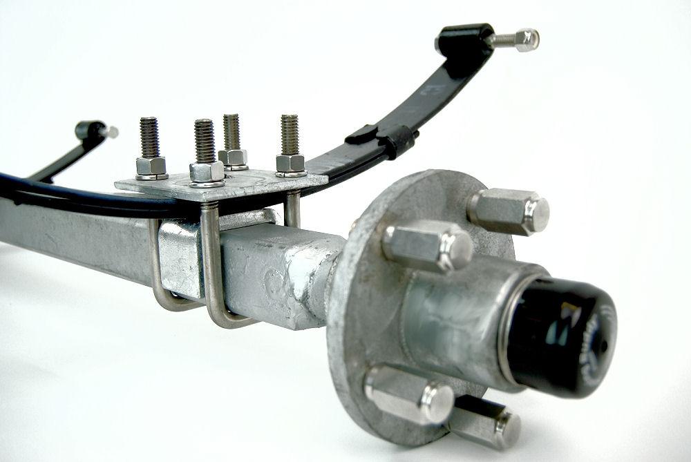 Camper Axle Parts : Lb galvanized inch v bend boat trailer axle with