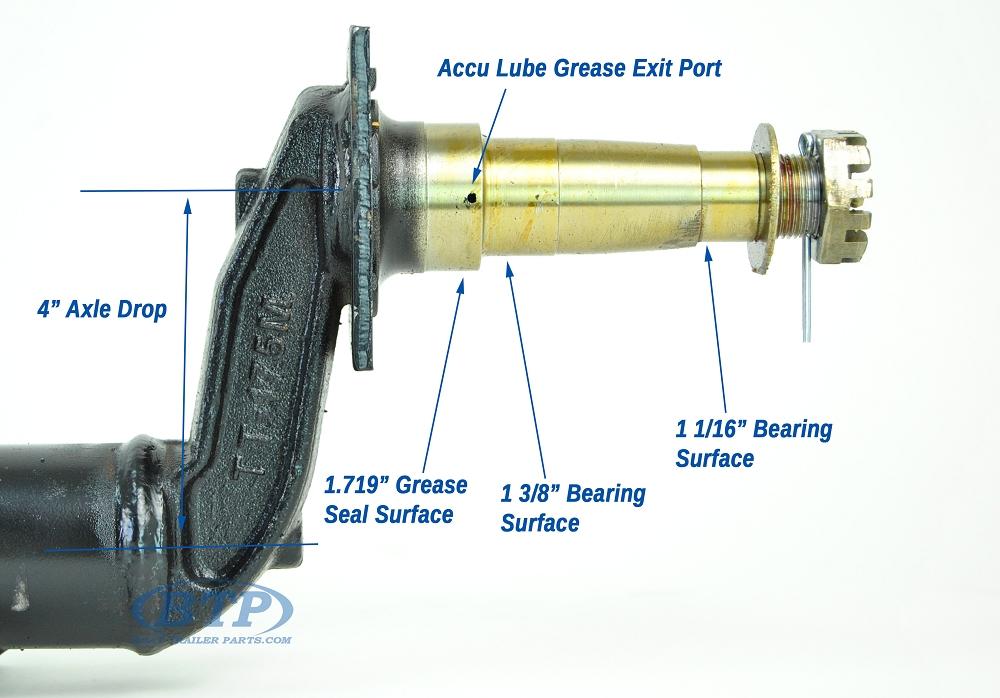 3 Drop Axle : Trailer drop axle painted steel lb in hub face