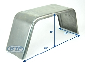 Cold Rolled Steel Trailer Fender Square 10 inch x 32 inch x 13 inch
