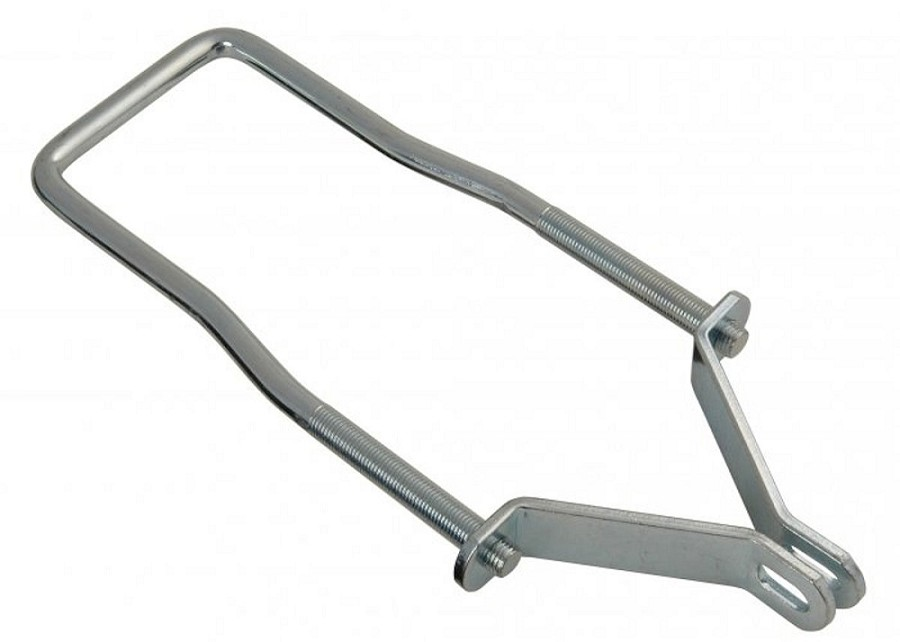 Trailer spare tire carrier ubolt with brackets for