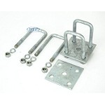 Trailer Leaf Spring Galvanized U-Bolt Kit,Fits 2 x 2 Axle,4 13/16 Long