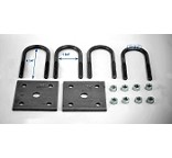 Trailer Leaf Spring U-Bolt Kit Oiled fits 1 3/4 inch Round Axles