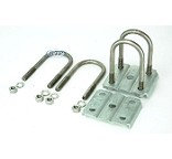 Trailer Leaf Spring Stainless Steel U-Bolt Kit 2 3/8 inch Round Axles