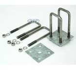 Trailer Leaf Spring Stainless Steel U-Bolt Kit Fits 2 x 3 Axles 6 � in