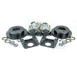 Kodiak E Coated Disc Brake Kit Slip On 8 Lug 7,000lb Axles w/ Hubs
