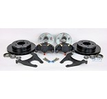 Kodiak E Coated Trailer Disc Brake Kit Slip On 5 Lug 3500lb w/Hubs