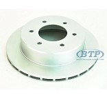 Kodiak 6 Lug Trailer Brake Rotor Dacromet Slip On Style Replacement