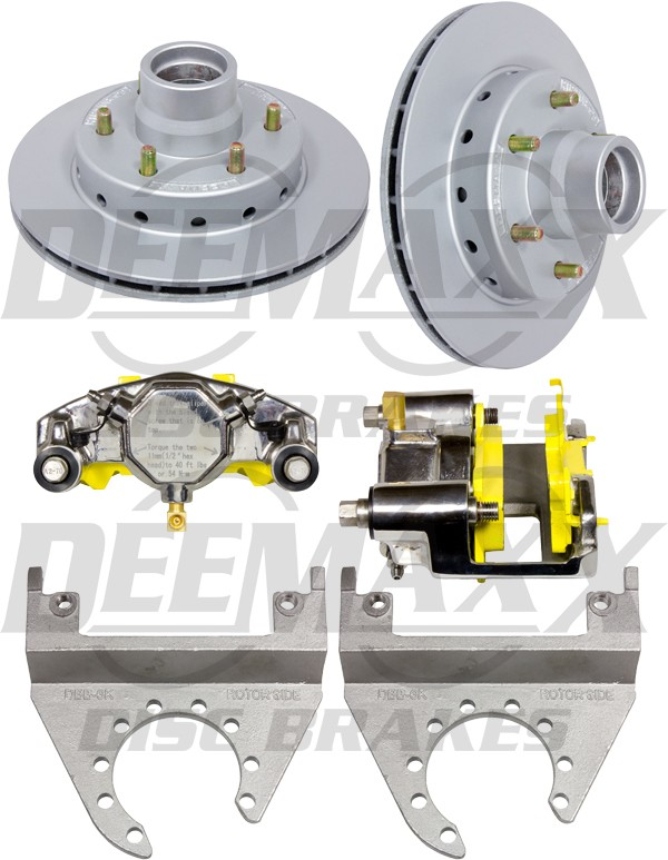 Trailer Axles Brakes System : Integral brake system for bolt hub axles rated to