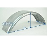 Galvanized Boat Trailer Fender Single Axle 7 in x 23 1/2 in x 8 in