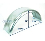 Galvanized Boat Trailer Fender 8 1/2 in x 29 in x 11 3/4 in