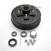 Trailer Brake Drum Hub 5 Lug, Fits 3,500lb Axle 5 on 4 1/2 Bolt Pattern