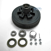 Trailer Brake Drum Hub 6 Lug Fits 5,200 - 6,000lb Trailer Axles