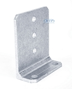 6 inch Bunk Bracket Aluminum L-Type for Bunk Boards on Boat Trailers