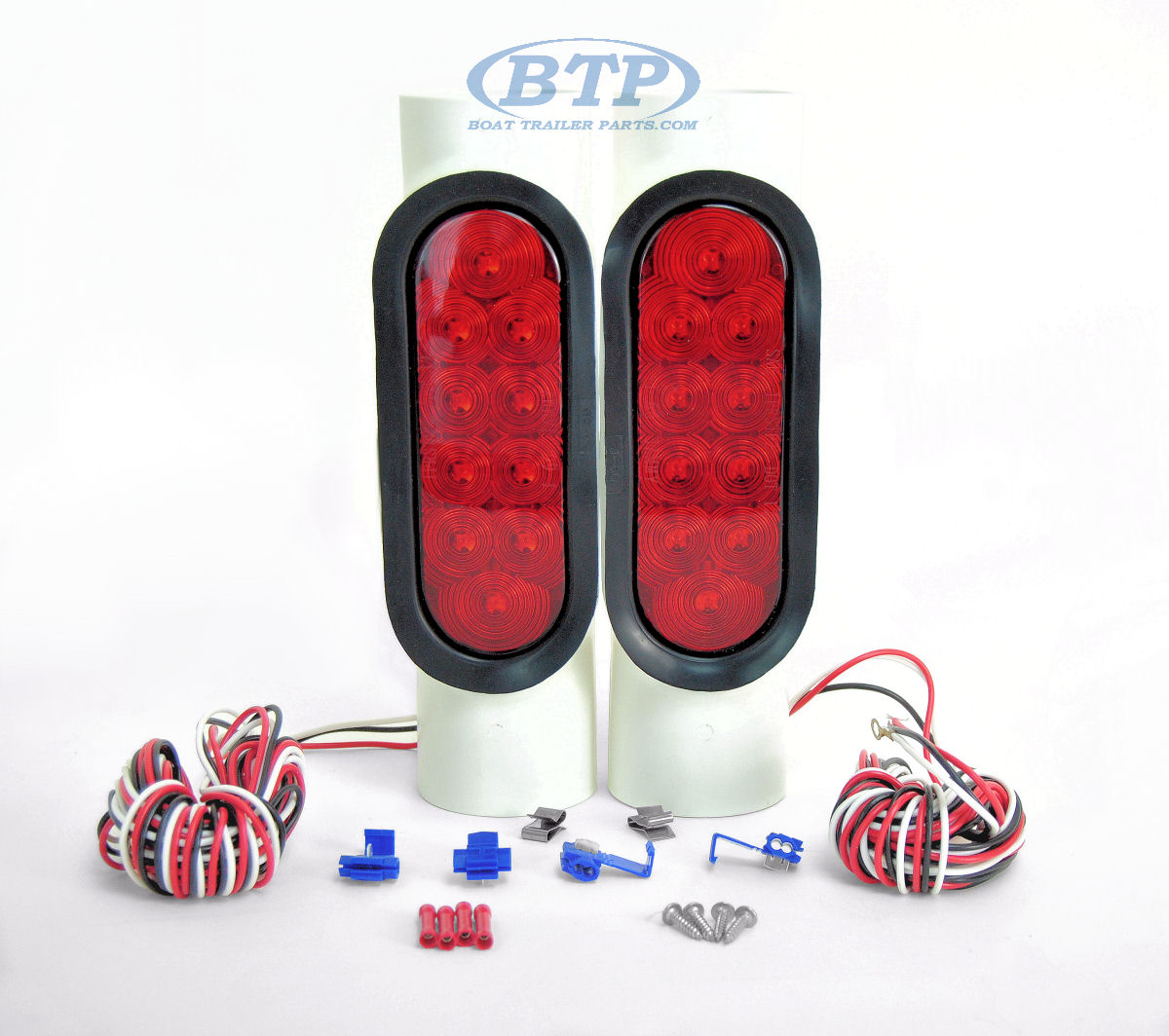 Boat Trailer Led And Incandescent Pipe Lights For Guide Poles Hydraulic Tongue Jack Moreover 4 Flat Wiring Light Kit
