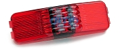 LED Sidemarker Trailer Light Red Submersible 1 inch x 4 inch by TecNiq