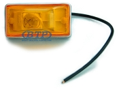 Side Marker Light Amber Submersible Single Stud