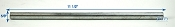 Zinc Plated Boat Trailer Roller Shaft 11 inch long 5/8 in Diameter