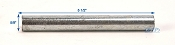 Zinc Plated Roller Shaft 5 1/4 inch long 5/8 inch Diameter
