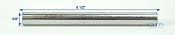 Zinc Plated Roller Shaft 6 1/4 inch long 5/8 inch Diameter
