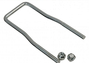 Boat and Utility Trailer Spare Tire Carrier U-Bolt Zinc Plated