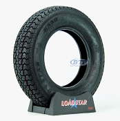 Trailer Tire ST205/75D14 Bias Ply 14 in Load Range C 1760lb by Loadstar