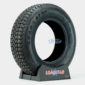 Trailer Tire ST215/75D14 Bias Ply 14 in Load Range C 1870lb by Loadstar