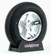 Boat Trailer Tire 5.30 x 12 on Aluminum 5 Star Wheel 5 Lug by Loadstar
