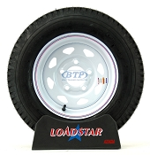 Boat Trailer Tires Mounted On Wheels