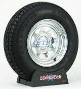 Boat Trailer Tire ST215/75D14 Bias on Galvanized Rim 5 Lug by Loadstar
