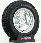 Boat Trailer Tire ST205/75D15 on a Galvanized Wheel 5 Lug by Loadstar
