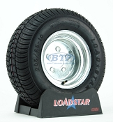 Trailer Tire 205/65-10 aka 20.5x8-10 LRD on Galvanized Rim 5 Lug by Loadstar
