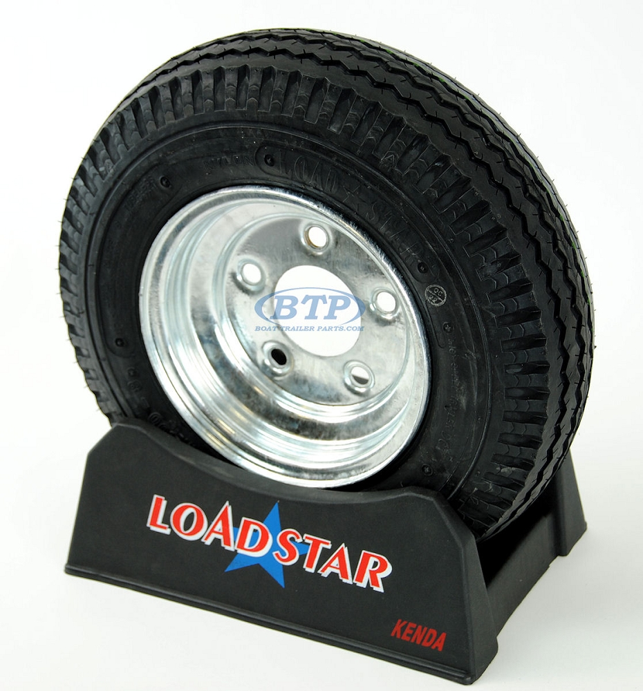 Boat Trailer Tire 4 80 X 8 On Galvanized Wheel 5 Lug Rim 590lb By