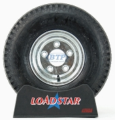 Boat Trailer Tire 5.70 x 8 on Galvanized Rim 5 Lug 910lb by Loadstar
