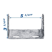 5 inch Galvanized Tongue Roller Bracket