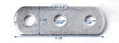 Galvanized 3 Hole Plate small for Boat Trailers