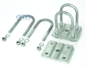 Trailer Leaf Spring Galvanized U-Bolt Kit fits 2 3/8 inch Round Axles
