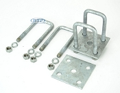 Trailer Leaf Spring Galvanized U-Bolt Kit Fits 2 x 2 Axle 5 1/4 in long