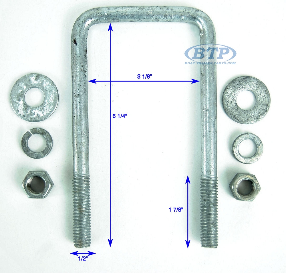 """2 1 1//2/"""" Square 1//8/"""" Thick Aluminum Boat Trailer Square Guide On Poles PAIR"""