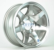 Aluminum Boat Trailer Wheel 13 inch 7 Spoke 5 Lug 5 on 4 1/2