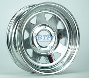 Galvanized Boat Trailer Wheel 13 inch 5 Bolt Trailer Rim 5 on 4 1/2