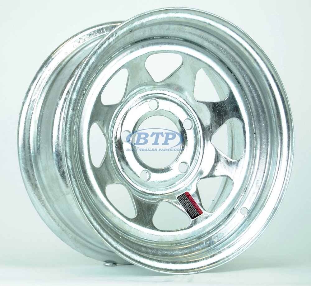 Galvanized Boat Trailer Wheel 14 Inch 5 Bolt Trailer Rim 5 On 4 1 2