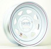 Trailer Wheel 14 inch White Powder Coated Steel 5 Lug Rim 5 on 4 1/2
