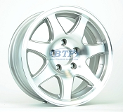 Aluminum Boat Trailer Wheel 15 inch 7 Spoke 5 Lug 5 on 4 1/2 Rim