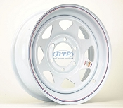 Trailer Wheel 16 inch White Spoke Painted Steel 6 Lug 6 on 5 1/2