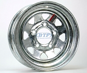 Boat Trailer Wheel 12 inch Galvanized 5 Lug 5 on 4 1/2 Bolt Pattern