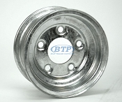 Boat Trailer Wheel 8 inch Galvanized 5 Lug 5 on 4 1/2 Bolt Pattern